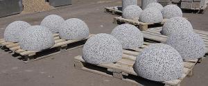 Парковочное ограждение бетонное полусфера Надолб