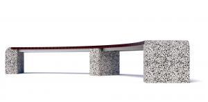 Скамейка бетонная Евро 1 Арка