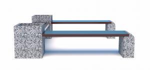 Скамейка бетонная Евро 1 Комплект