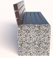 Бетонная скамейка Евро 1 со спинкой