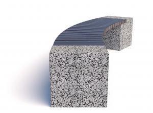 Скамейка бетонная Евро 2 Арка