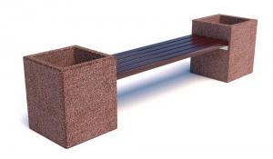 Скамейка бетонная Каролина без спинки  2500x500x500