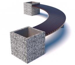Скамейка бетонная Каролина Арка