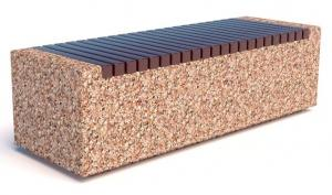 Скамейка бетонная уличная Темп 1500x500x450