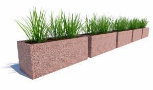 Комплект бетонных вазонов Сития Пента
