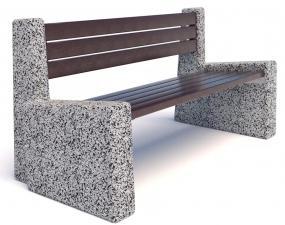 Скамейка бетонная уличная Евро 4