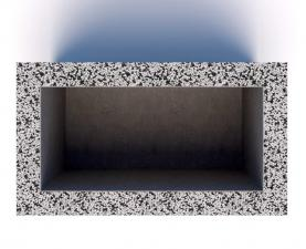 Вазон бетонный Бар 80