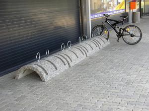 Велопарковка бетонная Трио Дуга