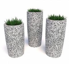 Комплект бетонных вазонов Леон Трио