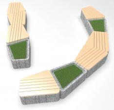 Скамейка бетонная UNI RLT