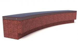 Скамейка ТЕМПO-4024R c деревянным основанием