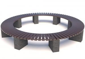 Скамейка бетонная Евро 1 круг
