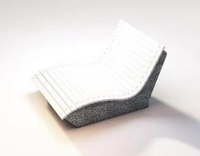Скамейка бетонная Шезлонг на два места