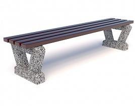 Скамейка бетонная Дельта