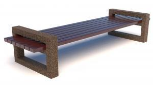 Скамейка бетонная Рампа