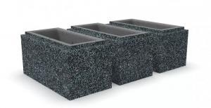 Блок бетонный столбовой 400х200x200 мм